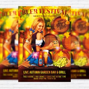 Beer Festival - Premium Flyer Template + Facebook Cover