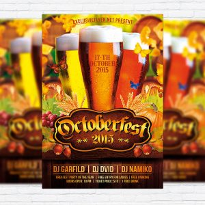 Octoberfest - Premium Flyer Template + Facebook Cover