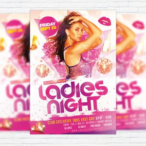 Ladies Night Vol.3 - Premium Flyer Template + Facebook Cover