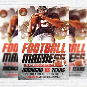 Football Madness - Premium Flyer Template + Facebook Cover
