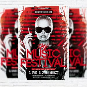 The Music Festival - Premium Flyer Template + Facebook Cover