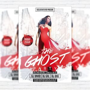 The Ghost Party - Premium Flyer Template + Facebook Cover