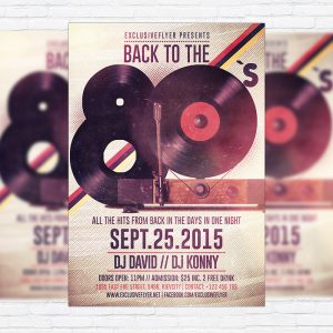 Retro Party - Premium Flyer Template + Facebook Cover