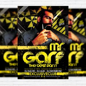 Mr.Garf - Premium Flyer Template + Facebook Cover