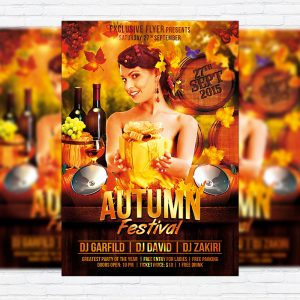Autumn Festival - Premium Flyer Template + Facebook Cover
