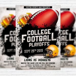 American Football Vol.2 - Premium Flyer Template + Facebook Cover