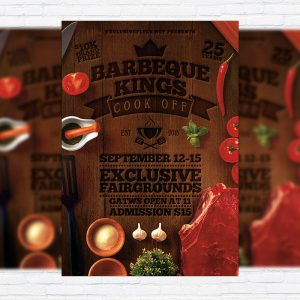 Barbecue Kings - Premium Flyer Template + Facebook Cover