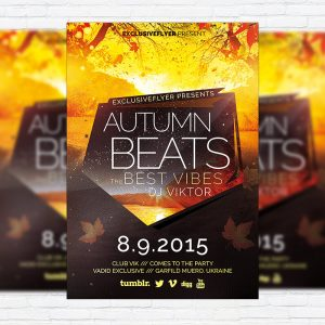 Autumn Beats - Premium Flyer Template + Facebook Cover