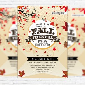 Fall Festival Vol.2 - Premium Flyer Template + Facebook Cover