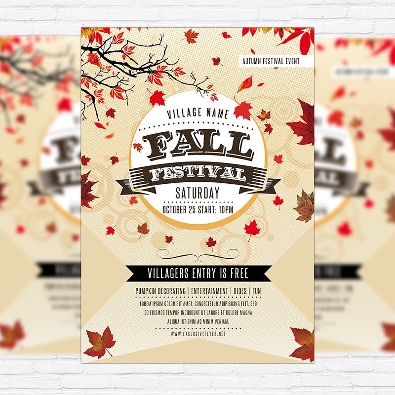 Fall Festival Flyer Templates Free Pinephandshakeapp