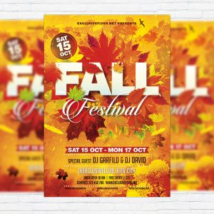 Fall Festival Vol.3 - Premium Flyer Template + Facebook Cover