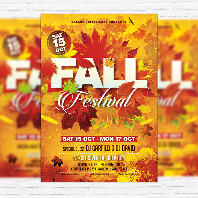 fall festival vol 3  u2013 premium flyer template   facebook