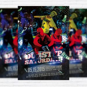 Dubstep Dance Party - Premium Flyer Template + Facebook Cover