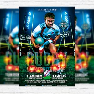 Rugby Game - Premium PSD Flyer Template