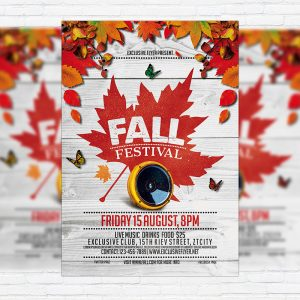 Fall Festival Vol.4 - Premium Flyer Template + Facebook Cover