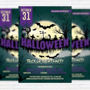 Halloween Vol.2 - Premium Flyer Template + Facebook Cover