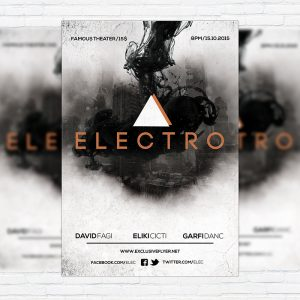 Electro Vol.2 - Premium Flyer Template + Facebook Cover