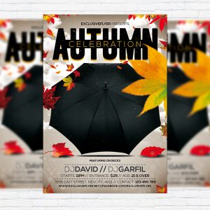 Autum Celebration - Premium Flyer Template + Facebook Cover