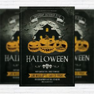 Halloween Vol.3 - Premium Flyer Template + Facebook Cover