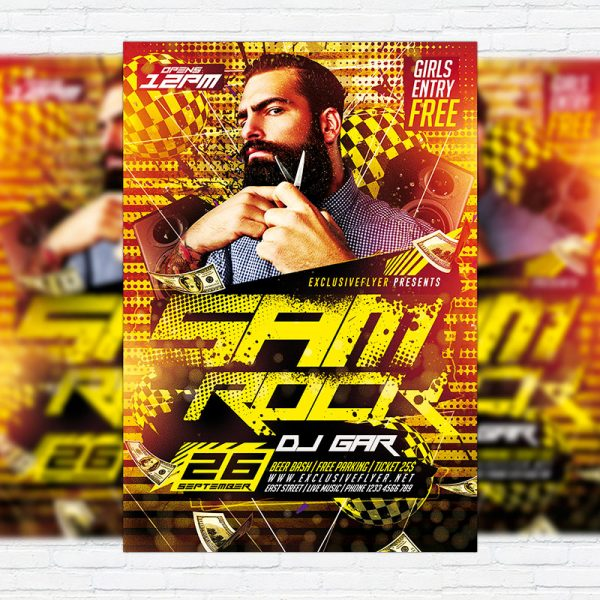 Special Guest Party - Premium Flyer Template + Facebook Cover