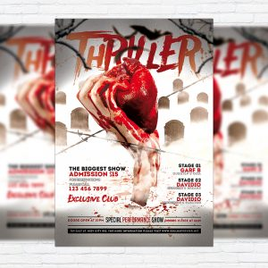Thriller Party - Premium Flyer Template + Facebook Cover