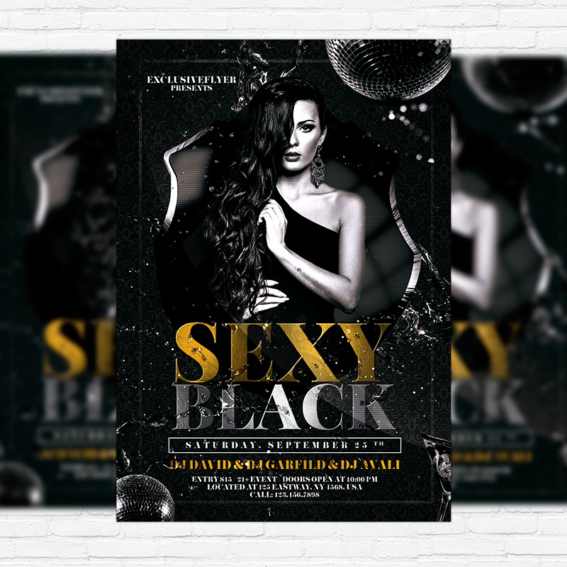 Sexy Black Premium Flyer Template Facebook Cover Exclsiveflyer