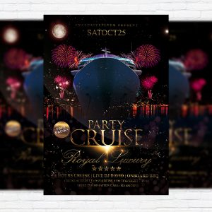 Cruise Party Vol.2 - Premium Flyer Template + Facebook Cover