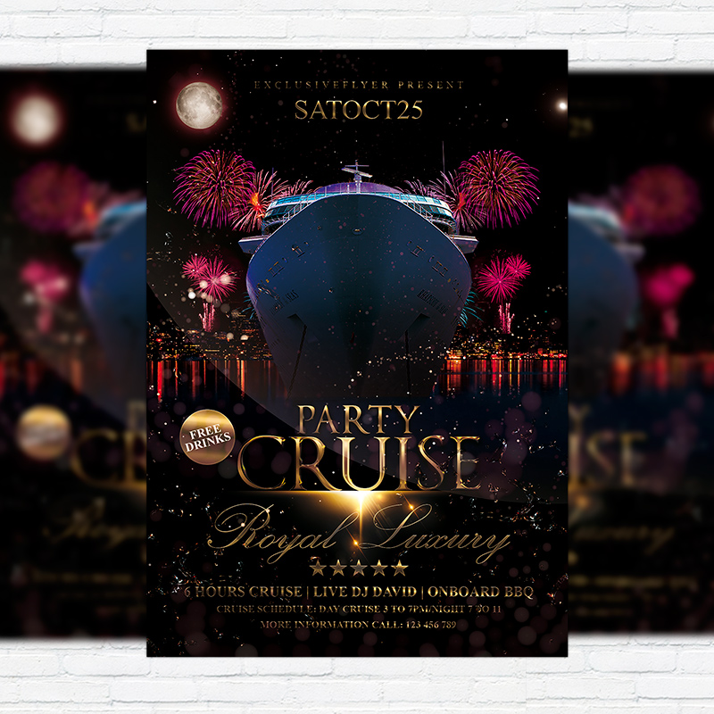 cruise party vol 2  u2013 premium flyer template   facebook