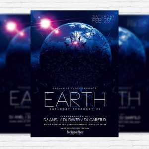 Earth Party - Premium PSD Flyer Template