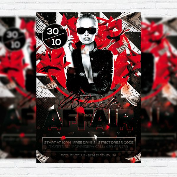 Black Affair - Premium Flyer Template + Facebook Cover