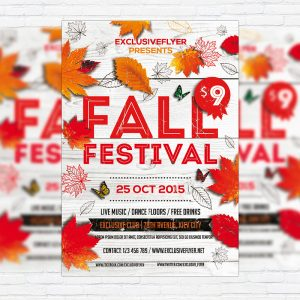 Fall Festival Vol.5 - Premium Flyer Template + Facebook Cover