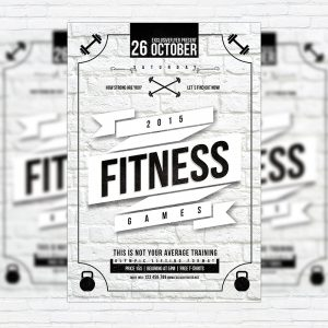 Fitness Games - Premium Flyer Template + Facebook Cover