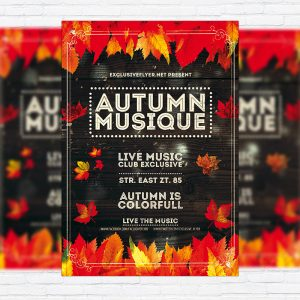 Autumn Musique – Premium Flyer Template + Facebook Cover