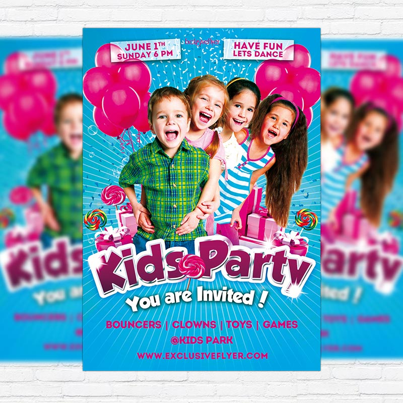 Kids Party – Premium PSD Flyer Template | ExclsiveFlyer | Free and ...