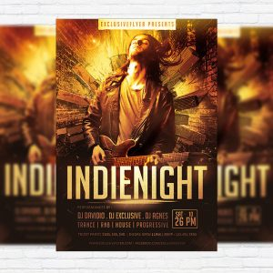 Indie Night - Premium PSD Flyer Template
