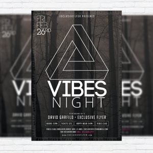 Vibes Night - Premium PSD Flyer Template