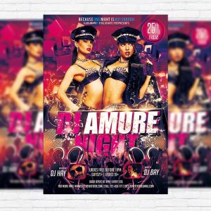 Dj Amure Night - Premium PSD Flyer Template