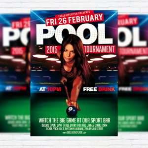 Pool Tournament - Premium PSD Flyer Template