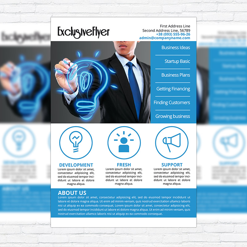 Fresh Corporate - Business PSD Flyer Template