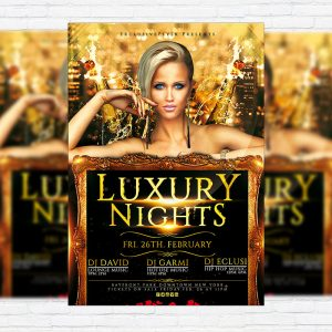 Luxury Nights Party - Premium PSD Flyer Template