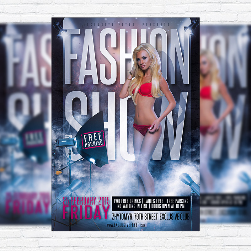 fashion show flyer template psd wwwpixsharkcom
