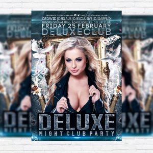 Deluxe Night Club Party - Premium PSD Flyer Template