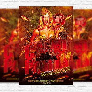 Camo Party - Premium PSD Flyer Template