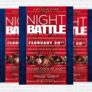 Night Battle - Premium PSD Flyer Template