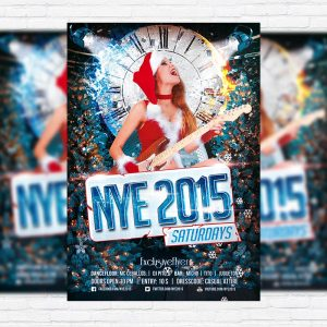 New Year Saturdays - Premium PSD Flyer Template