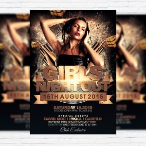 Girls Night Out - Premium Flyer Template + Facebook Cover