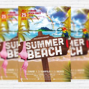 Summer Beach Vol.2 - Premium Flyer Template + Facebook Cover