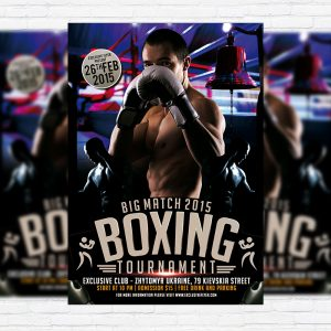 Boxing Tournament - Premium PSD Flyer Template