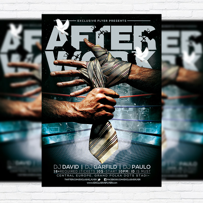 After Work Premium Psd Flyer Template Exclsiveflyer Free And