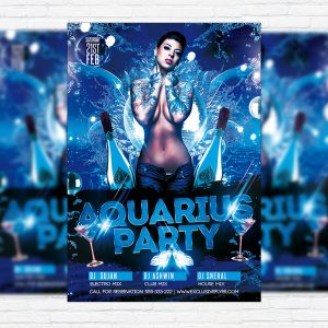 Aquarius Party - Premium PSD Flyer Template